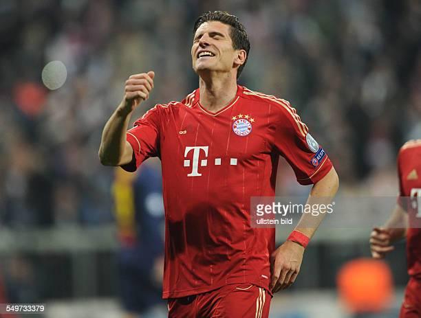 HalbfinalHinspiel Saison 2012/2013 Fussball Saison 20122013 UEFA Champions League Halbfinale Hinspiel FC Bayern München FC Barcelona 40 Jubel Mario...
