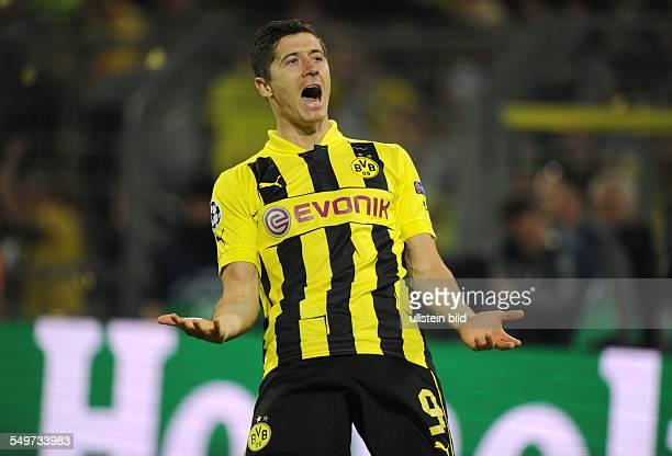HalbfinalHinspiel Saison 2012/2013 Fussball Saison 20122013 UEFA Champions League Halbfinale Hinspiel Borussia Dortmund Real Madrid Jubel Robert...