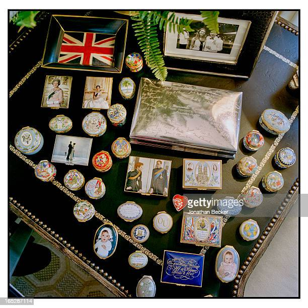 Halcyon Days boxes and ashtrays belonging to head of Ford Global Brand Entertainment, Alessandro Uzielli along with a cigar box that belong to Al's...