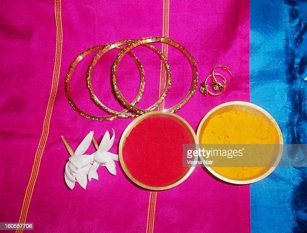haldi~kumkum (turmeric&vermilion) ceremony - bangle stock pictures, royalty-free photos & images