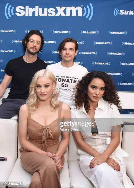 Hale Appleman Jason Ralph Olivia Taylor Dudley and Jade Tailor attend SiriusXM's Entertainment Weekly Radio Broadcasts Live From Comic Con in San...