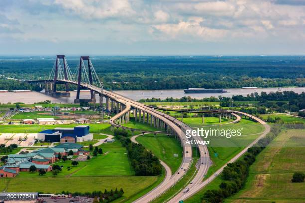 hale boggs memorial bridge - la waterfront stock pictures, royalty-free photos & images