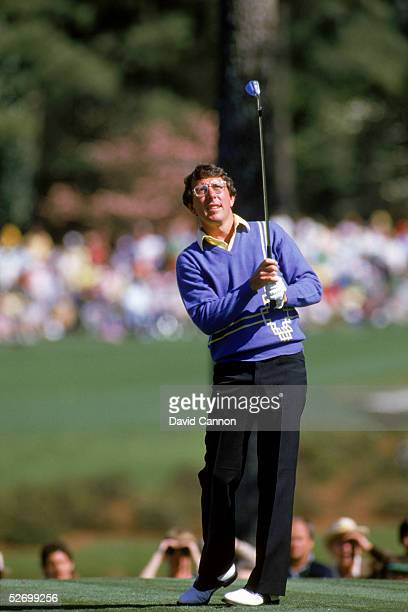 Hale Irwin drives the ball at the 1985 US Masters at Augusta National Golf Course in Augusta Georgia