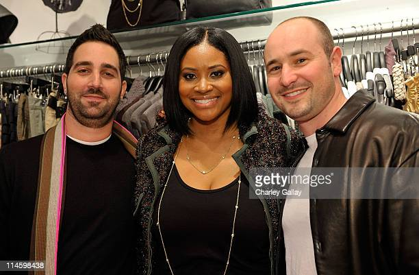 Hale Rothstein designer Rashida Blalock and Andy Seligman attend the launch party for Pinkney Turner Denim at Lisa Kline on October 8 2009 in Beverly...