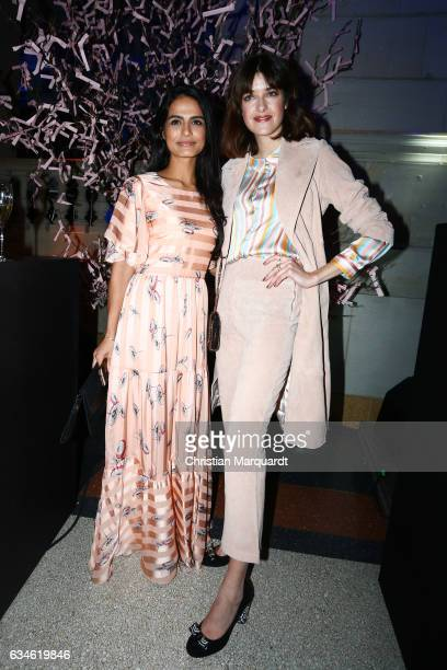 Haleh Esbak and Marie Nasemann attend the Blue Hour Reception hosted by ARD during the 67th Berlinale International Film Festival Berlin on February...