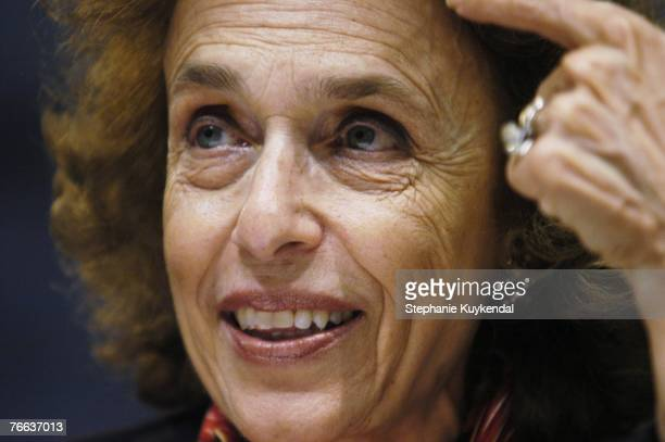 Haleh Esfandiari, director of the Middle East program at the Woodrow Wilson Center, speaks during a press conference September 10, 2007 in...