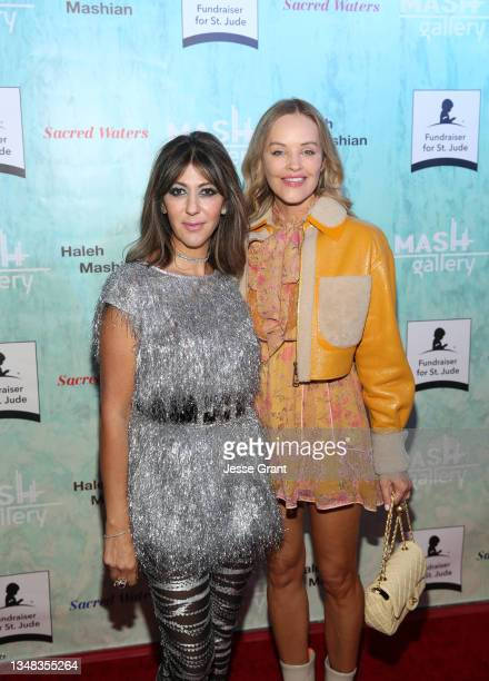 Haleh Mashian and Verina Marcel attend the Sacred Waters by Haleh Mashian Red Carpet Opening. Supporting St Jude Children's Hospital at Mash Gallery...