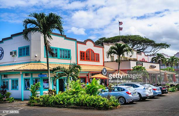 haleiwa shopping center - haleiwa stock photos and pictures