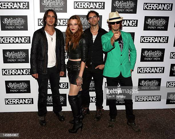 Halestorm attend the Kerrang Awards at The Brewery on June 7 2012 in London England