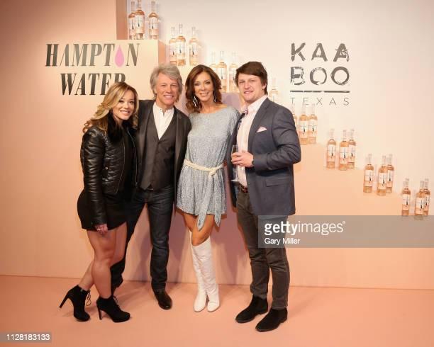 Haley Anderson Jon Bon Jovi Charlotte Jones Anderson and Jesse Bongiovi attend the KAABOO Texas Welcomes Hampton Water Tasting at The Joule Hotel on...