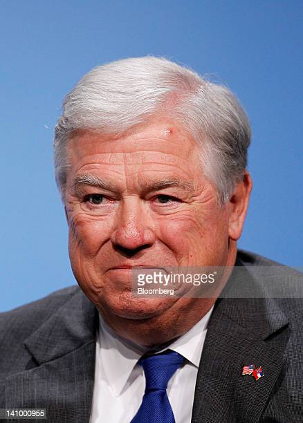 Haley Barbour former governor of Mississippi smiles at the 2012 CERAWEEK conference in Houston Texas US on Friday March 9 2012 CERAWEEK a gathering...