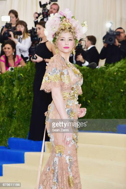 Haley Bennett arrives at Rei Kawakubo/Comme des Garcons Art Of The InBetween Costume Institute Gala at The Metropolitan Museum on May 1 2017 in New...