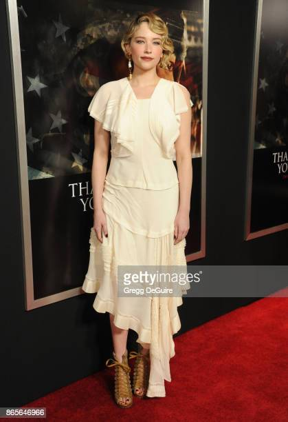 Haley Bennett arrives at the premiere of DreamWorks Pictures and Universal Pictures' Thank You For Your Service at Regal LA Live Stadium 14 on...