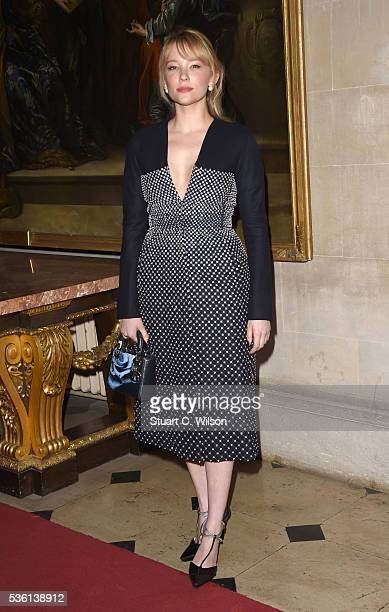 Haley Bennett arrives for the Christian Dior showcase of its spring summer 2017 Cruise collection at Blenheim Palace on May 31 2016 in Woodstock...