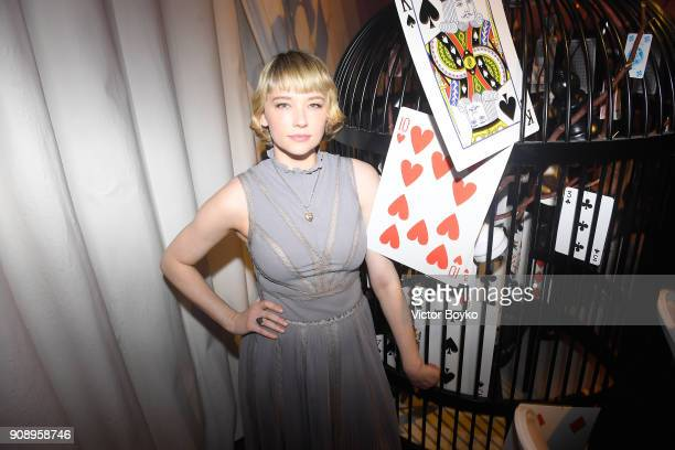Haley Bennett attends Le Bal Surrealiste Dior during Haute Couture Spring Summer 2018 show as part of Paris Fashion Week on January 22 2018 in Paris...