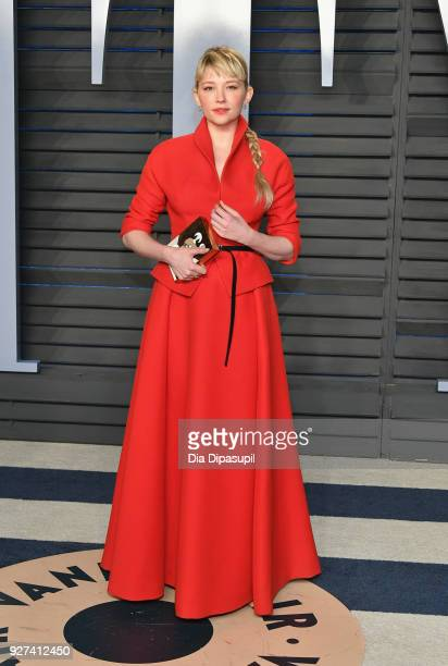 Haley Bennett attends the 2018 Vanity Fair Oscar Party hosted by Radhika Jones at Wallis Annenberg Center for the Performing Arts on March 4 2018 in...
