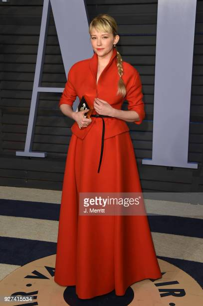 Haley Bennett attends the 2018 Vanity Fair Oscar Party hosted by Radhika Jones at the Wallis Annenberg Center for the Performing Arts on March 4 2018...