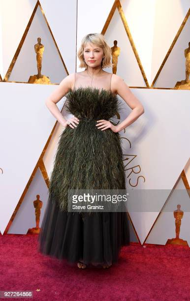 Haley Bennett attends the 90th Annual Academy Awards at Hollywood Highland Center on March 4 2018 in Hollywood California