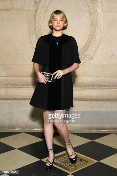 Haley Bennett attends the Christian Dior Haute Couture Spring Summer 2018 show as part of Paris Fashion Week on January 22 2018 in Paris France