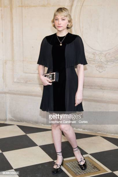 Haley Bennett attends the Christian Dior Haute Couture Spring Summer 2018 show as part of Paris Fashion Week January 22 2018 in Paris France