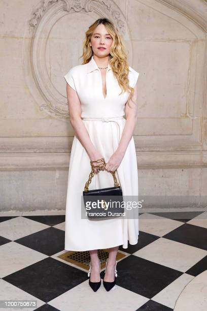 Haley Bennett attends the Dior Haute Couture Spring/Summer 2020 show as part of Paris Fashion Week on January 20 2020 in Paris France