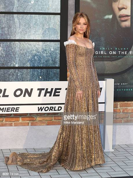 Haley Bennett attends The Girl On The Train world premiere at Odeon Leicester Square on September 20 2016 in London England