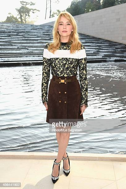 Haley Bennett attends the Louis Vuitton show as part of the Paris Fashion Week Womenswear Spring/Summer 2015 on October 1 2014 in Paris France