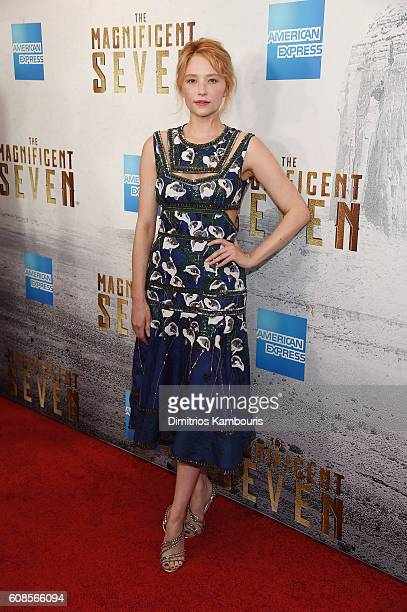 Haley Bennett attends The Magnificent Seven premiere at Museum of Modern Art on September 19 2016 in New York City