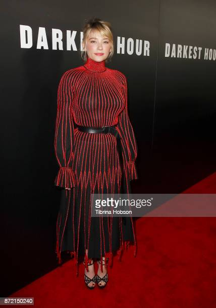 Haley Bennett attends the premiere of Focus Features 'Darkest Hour' at Samuel Goldwyn Theater on November 8 2017 in Beverly Hills California