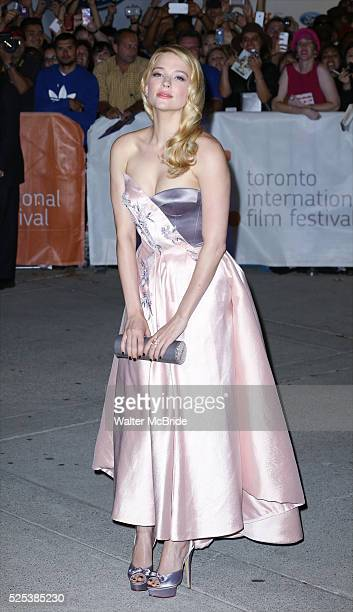 Haley Bennett attends the Red Carpet arrivals for 'The Equalizer' at Roy Thomson Hall during the 2014 Toronto International Film Festival on...