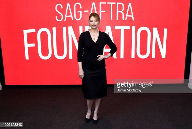 """Haley Bennett attends the SAG-AFTRA Foundation Conversations: """"Swallow"""" at The Robin Williams Center on February 27, 2020 in New York City."""