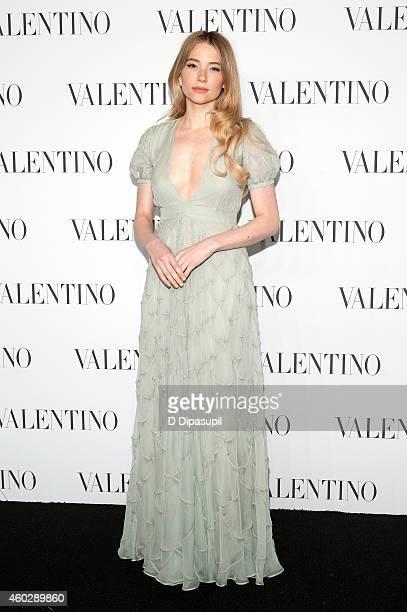 Haley Bennett attends the Valentino Sala Bianca 945 Event on December 10 2014 in New York City