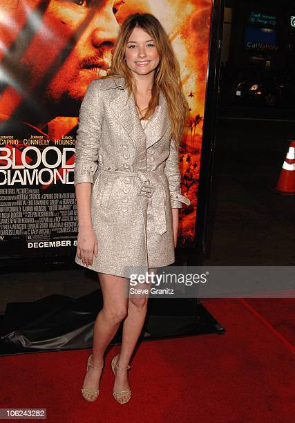 """Haley Bennett during """"Blood Diamond"""" Los Angeles Premiere - Arrivals at Grauman's Chinese Theatre in Hollywood, California, United States."""