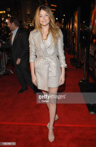 Haley Bennett during Blood Diamond Los Angeles Premiere Red Carpet at Grauman's Chinese Theater in Los Angeles California United States
