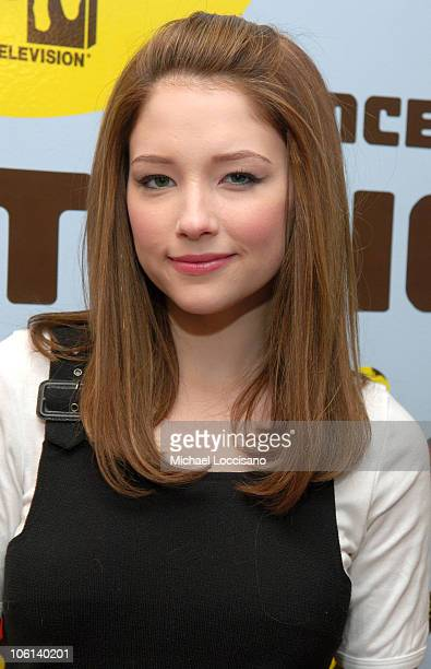 Haley Bennett during Drew Barrymore and Haley Bennett Visit MTV's 'TRL' February 14 2007 at MTV Studios Times Square in New York City New York United...