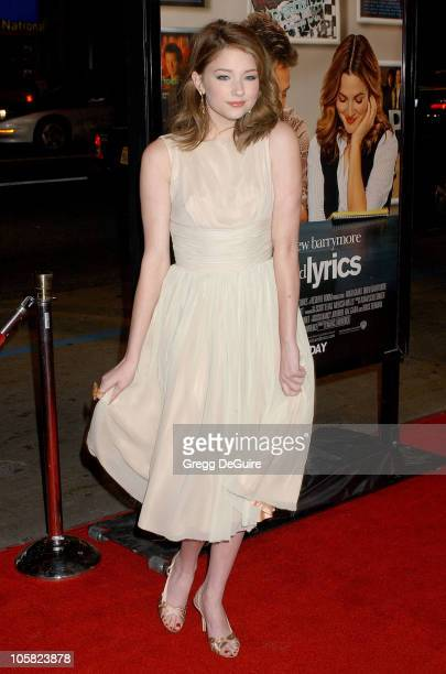 Haley Bennett during Music and Lyrics Los Angeles Premiere Arrivals at Grauman's Chinese Theatre in Hollywood California United States