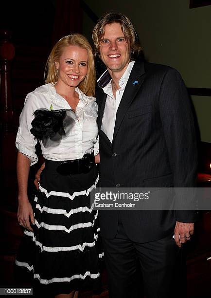 Haley Bracken and Nathan Bracken arrive for the Chandon Supper Club after party at The ArtHouse on May 20 2010 in Sydney Australia