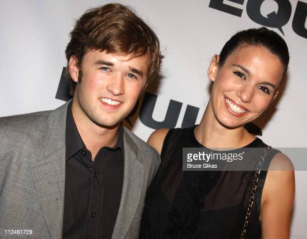 """Haley Joel Osment and Christy Carlson Romano pose at The Opening Night After Party for """"Equus"""" on Broadway at Pier 60 on September 25, 2008 in New..."""