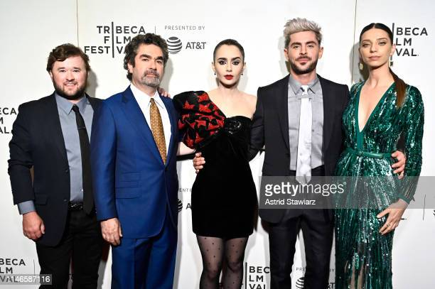 """Haley Joel Osment, Director Joe Berlinger, Lily Collins and Zac Efron, and Angela Sarafyan attend Netflix's """"Extremely Wicked, Shockingly Evil and..."""