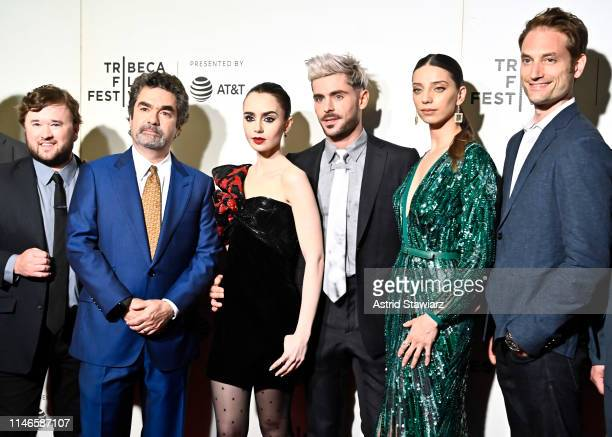 """Haley Joel Osment, Director Joe Berlinger, Lily Collins, Zac Efron, Angela Sarafyan, and Michael Werwie attend Netflix's """"Extremely Wicked,..."""