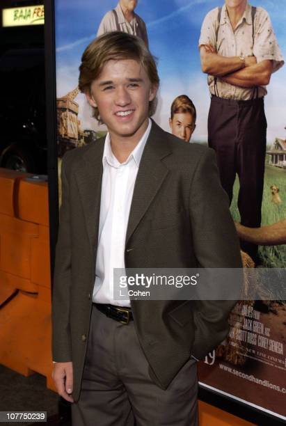 Haley Joel Osment during Secondhand Lions Premiere Red Carpet at Mann National Theatre in Westwood California United States