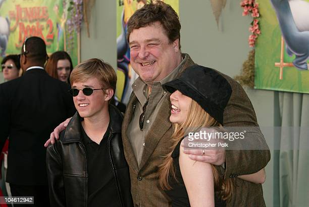Haley Joel Osment John Goodman and Mae Whitman during The Jungle Book 2 Premiere at The El Capitan Theater in Hollywood CA United States