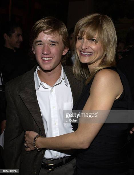 Haley Joel Osment Kyra Sedgwick during Secondhand Lions Premiere After Party at Napa Valley Grille in Westwood CA United States