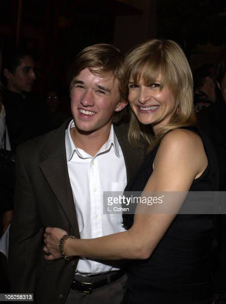 Haley Joel Osment Kyra Sedgwick during 'Secondhand Lions' Premiere After Party at Napa Valley Grille in Westwood CA United States