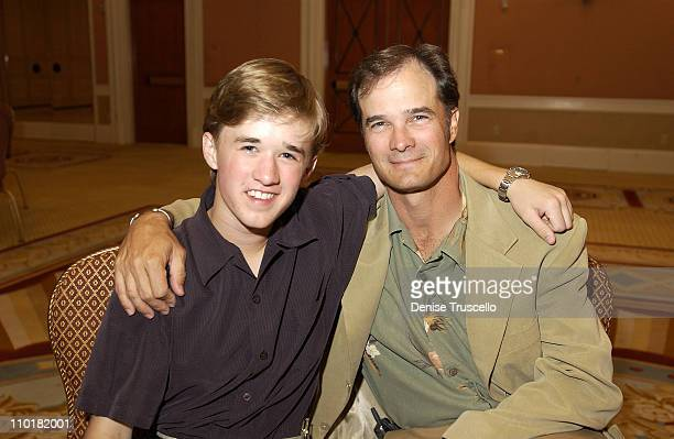 Haley Joel Osment With His Father Eugene during The Michael Douglas Friends Live and Silent Auction at Ceasars Palace in Las Vegas Nevada United...
