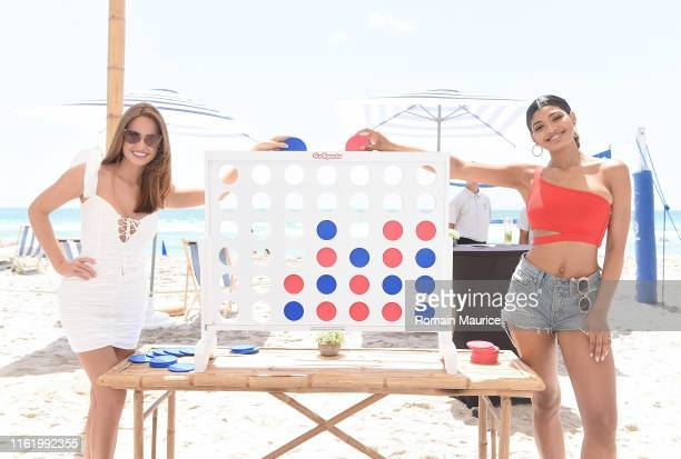 Haley Kalil and Danielle Herrington attend the Duke Spirits And Sports Illustrated Mix Off At The Model Mixology Competition at W South Beach on July...