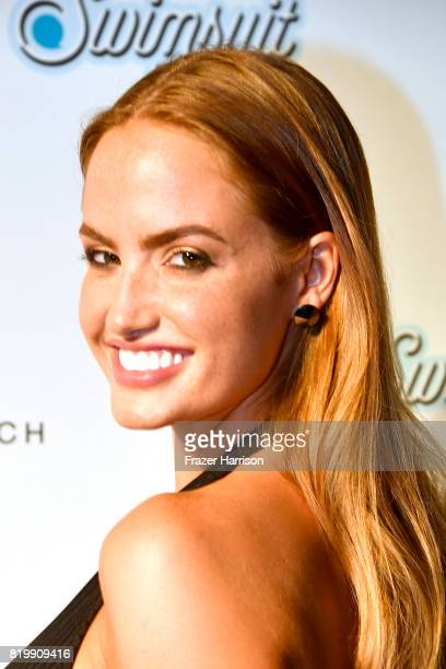 Haley Kalil attends during Sports Illustrated and Wall present SWIMMIAMI 2017 Opening Party Backstage/Front Row at WET Deck at W South Beach on July...