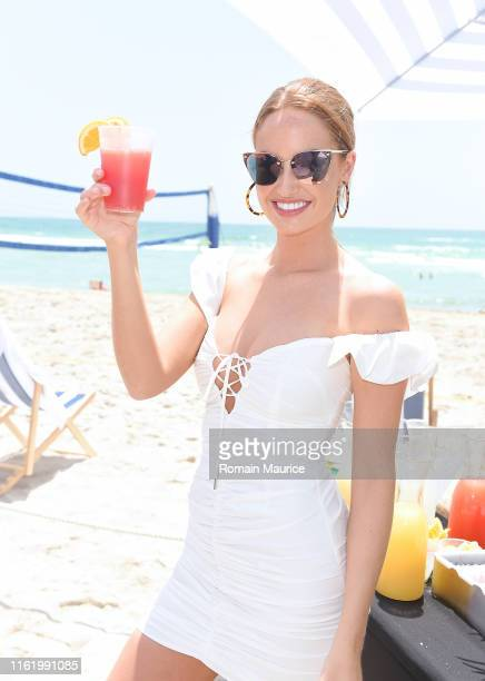 Haley Kalil attends the Duke Spirits And Sports Illustrated Mix Off At The Model Mixology Competition at W South Beach on July 14 2019 in Miami Beach...