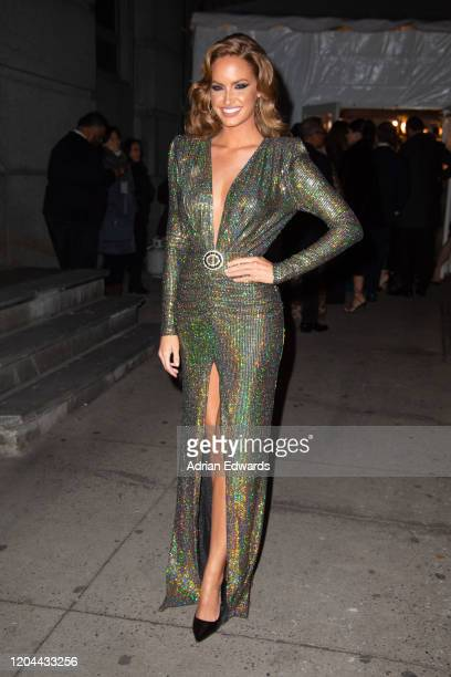 Haley Kalil outside the amFAR Gala held at Cipriani Wall St on February 5, 2020 in New York City.