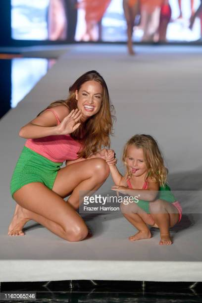 Haley Kalil walks the runway during the 2019 Sports Illustrated Swimsuit Runway Show During Miami Swim Week At W South Beach Runway at WET poolside...